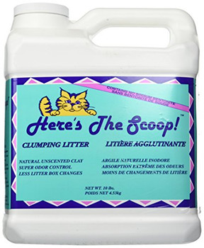 Here's The Scoop Clumping Cat Litter - Case of 3 - 10