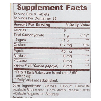 American Health Original Papaya Enzyme - 100 Tablets