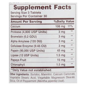 American Health - Super Papaya Enzyme Plus Chewable - 90 Chewable Tablets