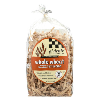 Al Dente Fettuccine - Whole Wheat - Case of 6 - 12 oz.