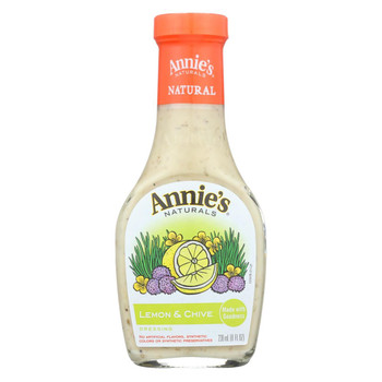 Annie's Naturals Dressing Lemon and Chive - Case of 6 - 8 fl oz.