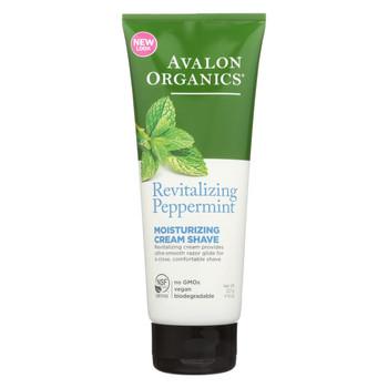 Avalon Organics Moisturizing Cream Shave Peppermint - 8 fl oz