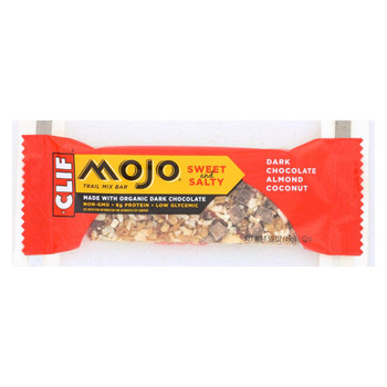 Clif Bar Organic Mojo Bar - Dark Chocolate Almond Coconut - Case of 12 - 1.59 oz Bars