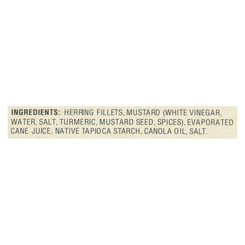 Bar Harbor - Wild Herring Fillets - Stone Ground Mustard Sauce - Case of 12 - 7 oz.
