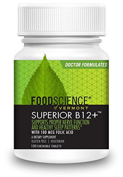 FoodScience of Vermont Sublingual B12-MC - 100 Vegetarian Tablets