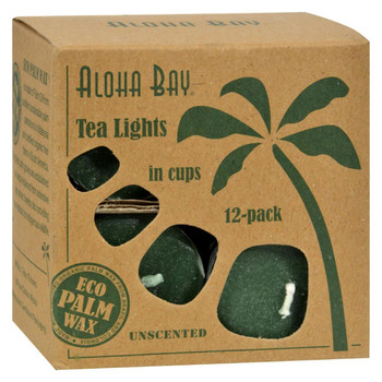 Aloha Bay Tea Light - Green - 12/.7 oz