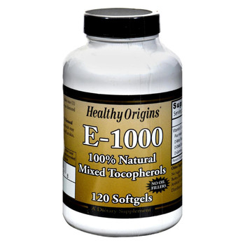 Healthy Origins E-1000 - 1000 IU - 120 Softgels