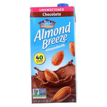 Almond Breeze Almond Milk - Unsweetened Chocolate - Case of 12 - 32 fl oz