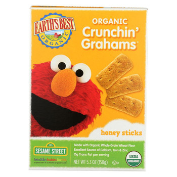 Earth's Best Organic Crunchin' Grahams Honey Sticks - Case of 6 - 5.3 oz.