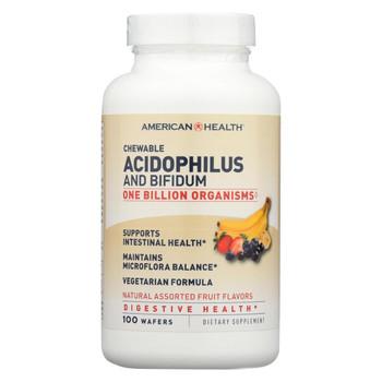 American Health - Acidophilus and Bifidum Chewable Fruit - 100 Wafers