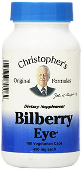 Dr. Christopher's Bilberry Eye - 435 mg - 100 Vegetarian Capsules