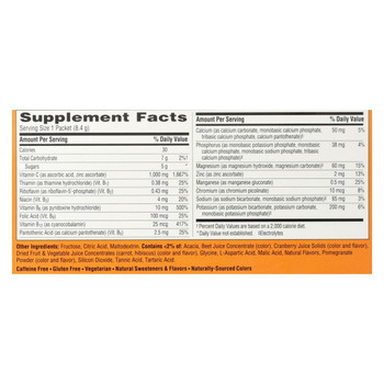 Alacer - Emergen-C Vitamin C Fizzy Drink Mix Cranberry Pomegranate - 1000 mg - 30 Packets