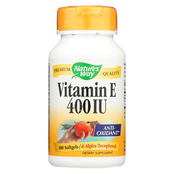 Nature's Way - Vitamin E - 400 IU - d-Alpha Tocopherol- 100 Softgels