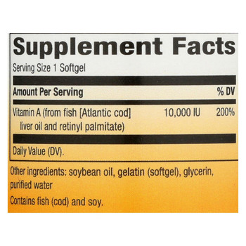 Nature's Way - Vitamin A - 10000 IU - 100 Softgels