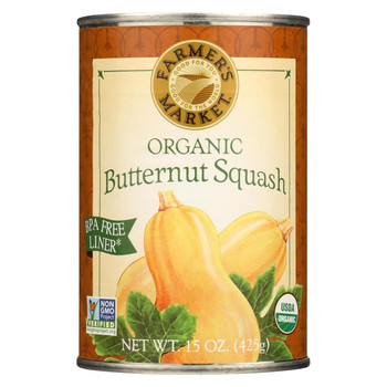 Farmer's Market Organic Butternut - Squash - Case of 12 - 15 oz.