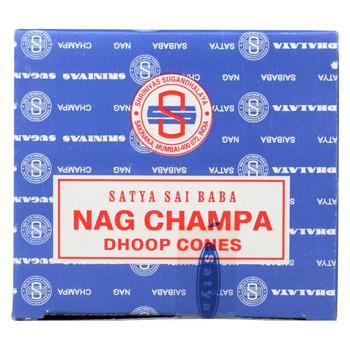 Sai Baba Nag Champa Incense Cone - Case of 12 - 12 Packs