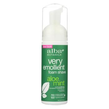 Alba Botanica Moisturizing Foam Shave Aloe Mint - 5 fl oz