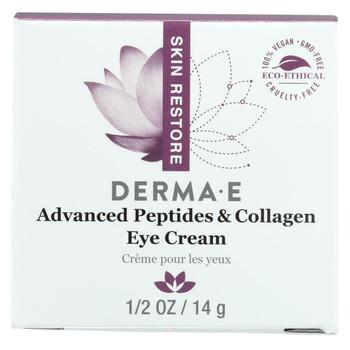 Derma E Peptides Plus Wrinkle Reverse Eye Creme - 14 g - 0.5 oz