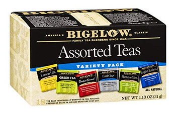 Bigelow Tea Assorted Tea - 6 Variety - Case of 6 - 18 BAG