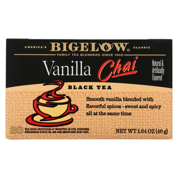 Bigelow Tea Tea - Chai Vanilla - Case of 6 - 20 BAG
