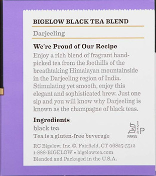 Bigelow Tea Darjeeling Black Tea - Case of 6 - 20 Bags