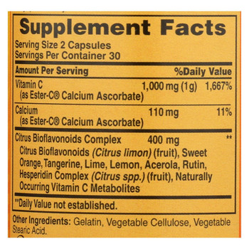 American Health - Ester-C with Citrus Bioflavonoids - 500 mg - 60 Capsules