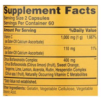 American Health - Ester-C with Citrus Bioflavonoids - 500 mg - 120 Capsules