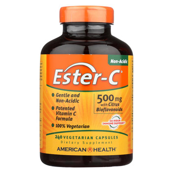 American Health - Ester-C with Citrus Bioflavonoids - 500 mg - 240 Vegetarian Capsules