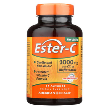 American Health - Ester-C with Citrus Bioflavonoids - 1000 mg - 90 Capsules