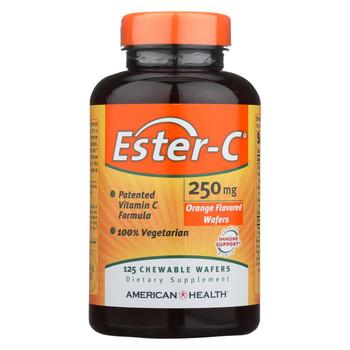 American Health Ester-C Orange - 250 mg - 125 Wafers