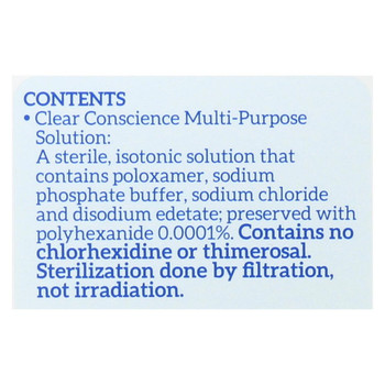 Clear Conscience Multi Purpose Contact Lens Solution - 12 oz