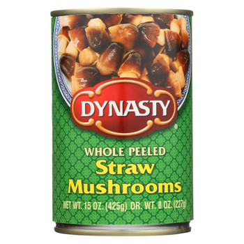Dynasty Straw Mushrooms - Whole Peeled - Case of 12 - 15 oz.