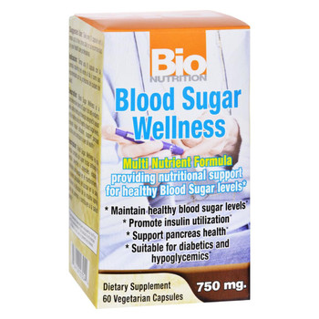 Bio Nutrition - Blood Sugar Wellness - 60 Vegetarian Capsules