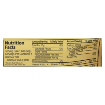Zing Bars Nutrition Bar - Peanut Butter Chocolate Chip - 1.76 oz Bars - Case of 12