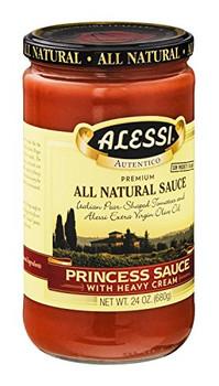 Alessi - Pasta Sauce - Princess with Heavy Cream - Case of 6 - 24 oz