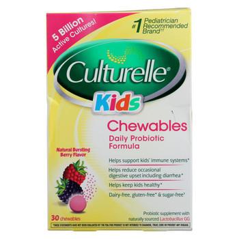 Culturelle - Kids Chewables Probiotic Natural Bursting Berry - 30 Chewable Tablets