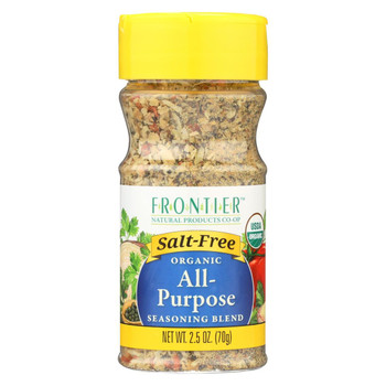 Frontier Herb All Purpose Seasoning - Salt Free - Case of 6 - 2.5 oz.