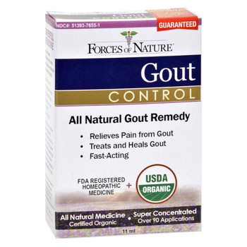 Forces of Nature - Organic Gout Control - 11 ml