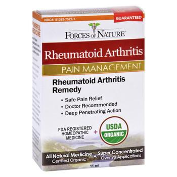 Forces of Nature Organic Rheumatoid Arhtritis Control - 11 ml