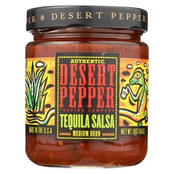 Desert Pepper Trading - Medium Burn Tequila Salsa - Case of 6 - 16 oz.