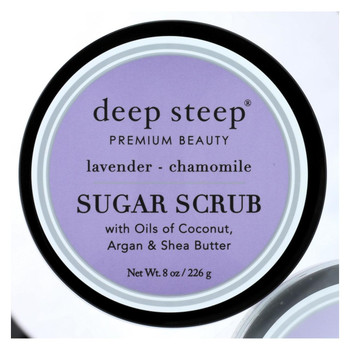 Deep Steep Sugar Scrub - Lavender Chamomile - Case of 1 - 8 oz.