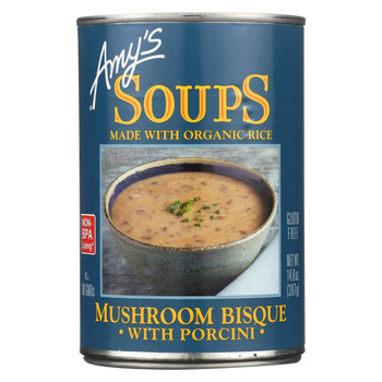 Amy's - Mushroom Bisque with Porcini - Case of 12 - 14 oz
