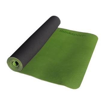 Thinksport Yoga Mat - Black/Green