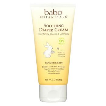 Babo Botanicals - Diaper Cream - Soothing - 3 oz