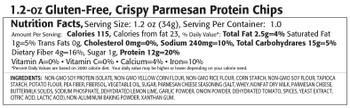 Kay's Naturals Better Balance Protein Chips - Crispy Parmesan - Case of 6 - 5 oz