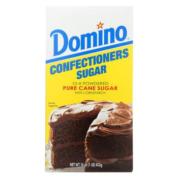 Domino Sugar - Confectioners 10X - Case of 24 - 1 Lb