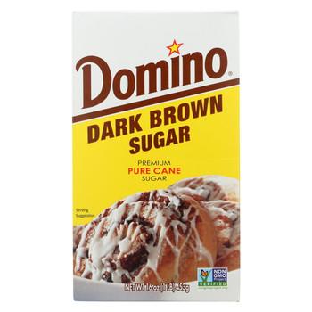 Domino Sugar - Dark Brown - Case of 24 - 1 Lb
