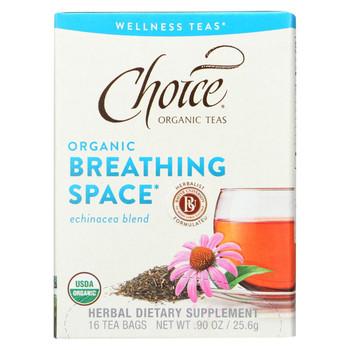 Choice Organic Teas - Organic Breathing Space Tea - 16 Bags - Case of 6
