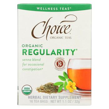 Choice Organic Teas - Organic Regularity Tea - 16 Bags - Case of 6