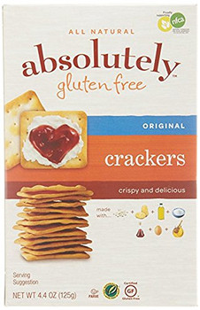 Absolutely Gluten Free - Crackers - Gluten Free - Case of 36 - 4.4 oz